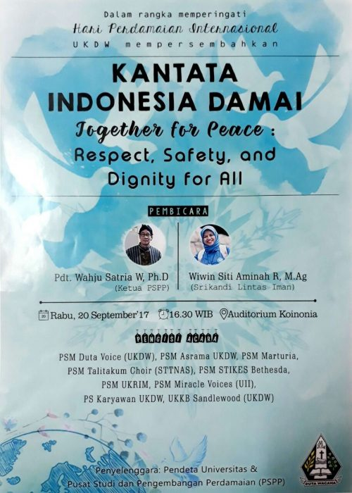 Kantata Indonesia Damai dalam International Peace Day