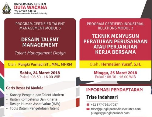 UKDW Gelar Program Certified Talent Management Modul 3