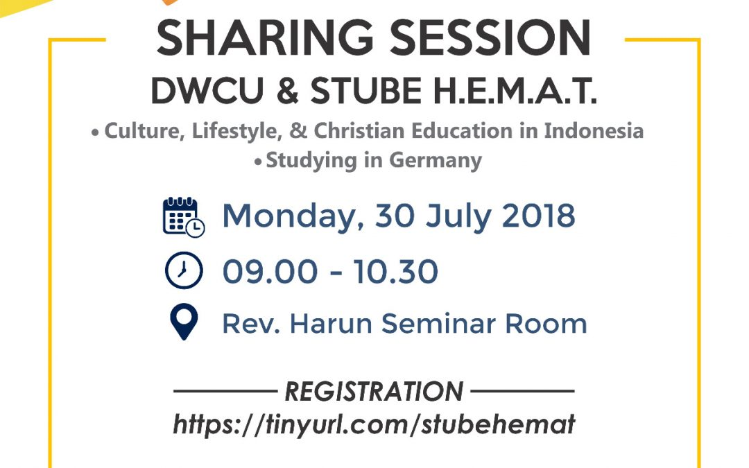 Sharing Session DWCU & STUBE H.E.M.A.T