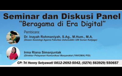 """BEM F. Teologi Adakan Seminar """"Beragama di Era Digital"""""""