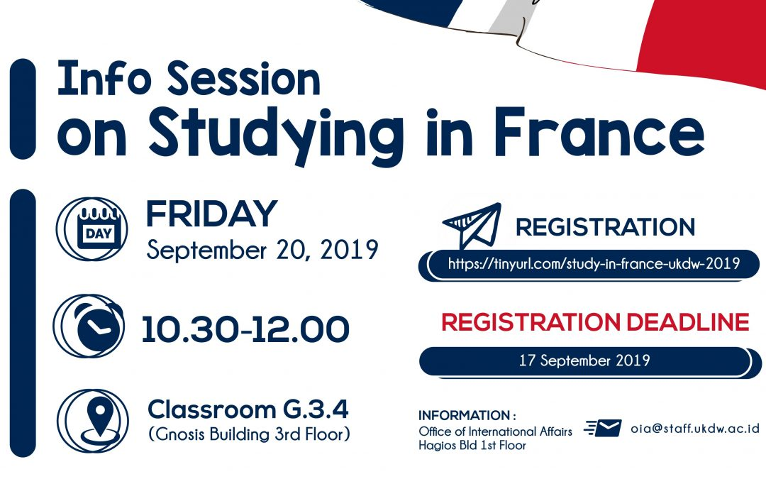Information Session on Studying in France